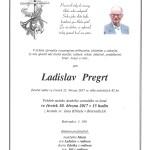 Smuteční oznámení - Ladislav Pregrt