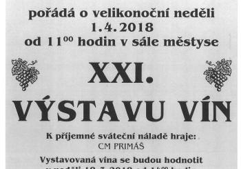 Pozvánka na XXI. Výstavu vín