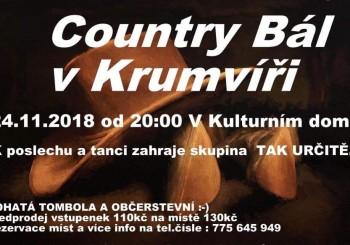 Pozvánka – Country Bál – 24.11.2018 – Krumvíř