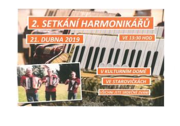 Pozvánka – 2. setkání harmonikářů – Starovičky
