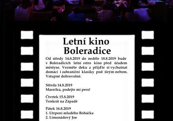 Pozvánka – Letní kino Boleradice