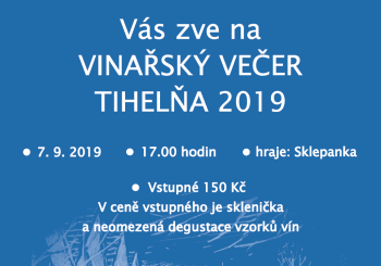 Vinařský večer  – Tihelňa 2019