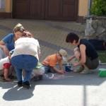 Malování na silnici